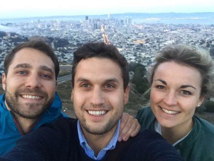 Die drei Climedo-Gründer in San Francisco.