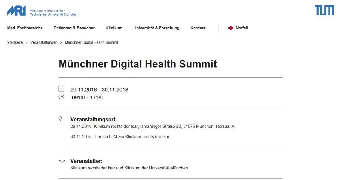 Münchner Digital Health Summit