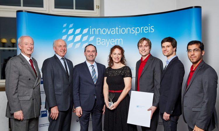 Das Team von audEERING ist einer der Gewinner des Innovationspreis Bayern.