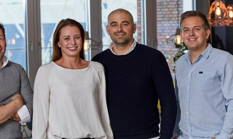 Das Better-Führungsteam und Kartenmacherei-Gründer: Patrick Leibold, Jennifer Behn, Christoph Behn und Steffen Behn (v.l., Foto: Better)