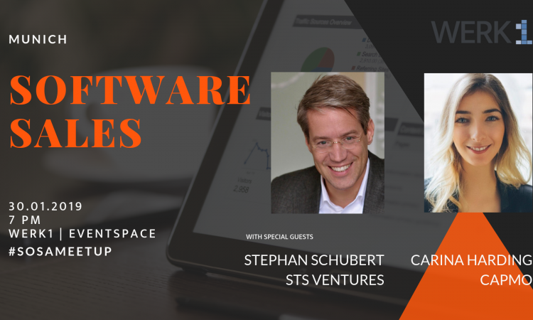Software Sales Meetup mit Investor Stephan Schubert und Carina Harding (Capmo)