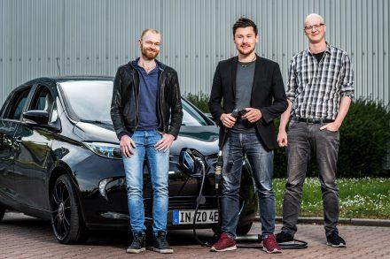 Michael Masnitza, Tobias Wagner und Johannes Engeln von Chargex. (Foto: Chargex)