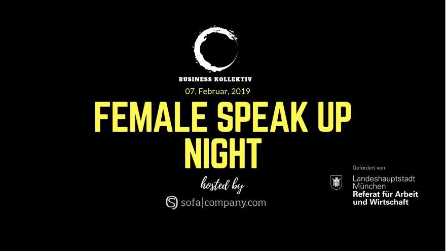 Female Speak Up Night