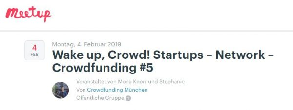 Wake up, Crowd! Startups – Network – Crowdfunding #5 mit dem Schwerpunktthema Crowdfunding Aftersales