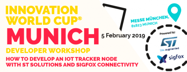 Developer Workshop von STMicroelectronics, Sigfox und der Innovation World Cup Series