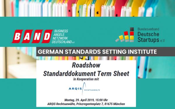 """Standarddokument """"Term Sheet"""" für Finanzierungsrunden"""