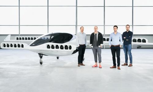 Der neue Prototyp des Flugtaxis Lilium Jet