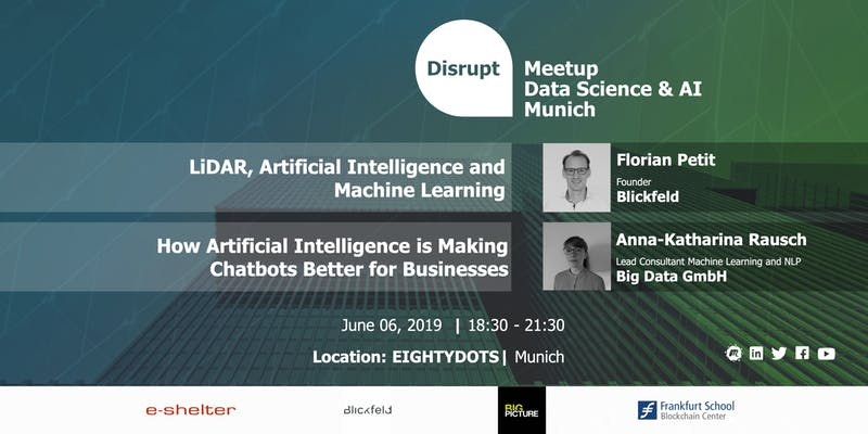 Disrupt Meetup: Artificial Intelligence - From Autonomous Driving to Chatbots
