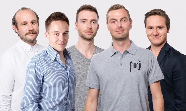 Das Foodji-Team: Nicolas Luig, Oliver Friedmann , Moritz Munte, Felix Munte und Daniel von Canal (v.l.)