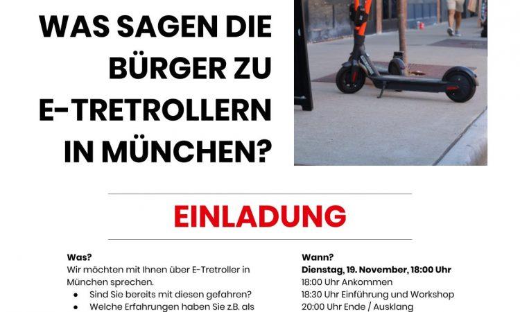 Digital Hub Mobility: Was sagen die Bürger zu E-Tretrollern in München? (citizen mobility Netzwerk)