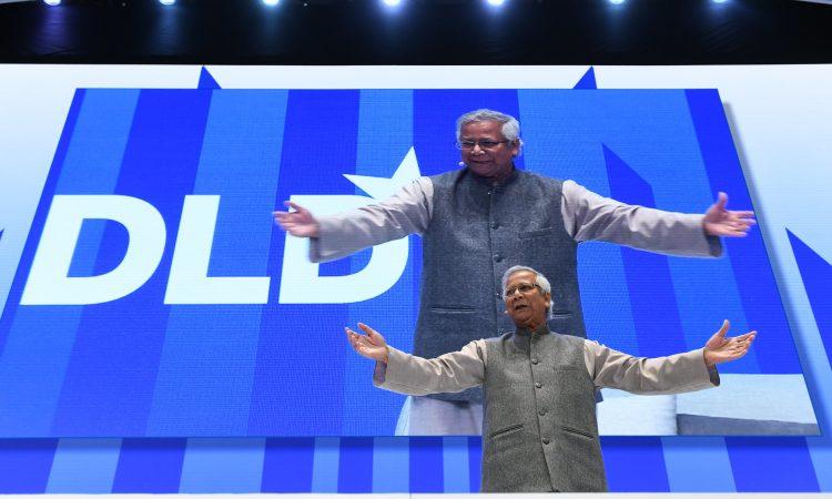 Muhammad Yunus auf der DLD-Konferenz 2020.