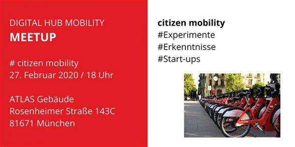 Digital Hub Mobility Meetup citizen mobility