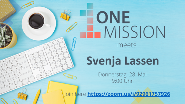 ONE MISSION meets… Svenja Lassen!