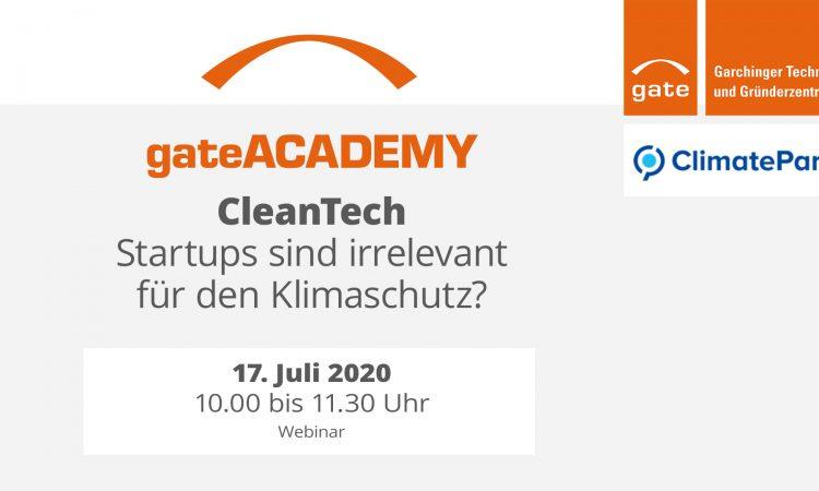 gateACADEMY CleanTech: Startups sind irrelevant für den Klimaschutz?