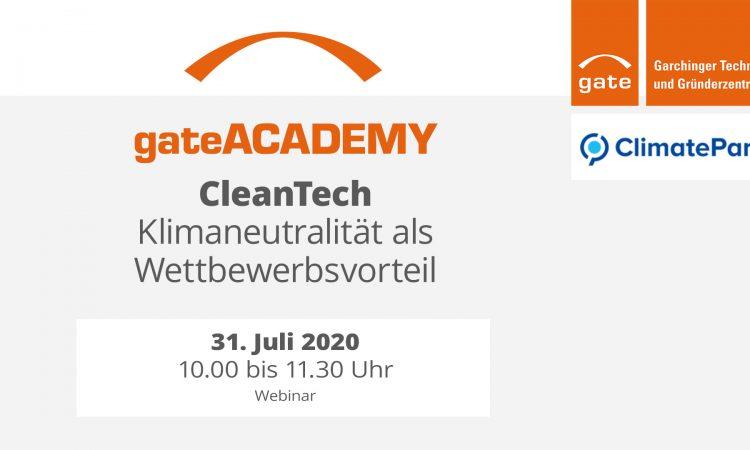 gateACADEMY CleanTech - Klimaneutralität als Wettbewerbsvorteil