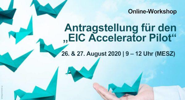 """Workshop zur Antragstellung für den """"EIC Accelerator Pilot"""""""