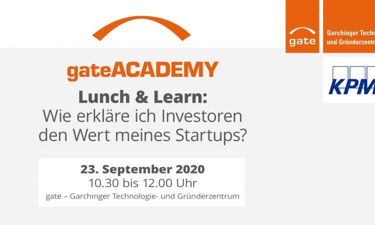 Lunch & Learn: Wie erkläre ich Investoren den Wert meines Startups?