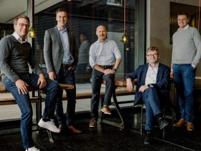 UVC Partners: Johannes von Borries, Andreas Unseld, Dr. Ingo Potthof, Prof. Dr. Helmut Schönenberger und Benjamin Erhart (v.l.)
