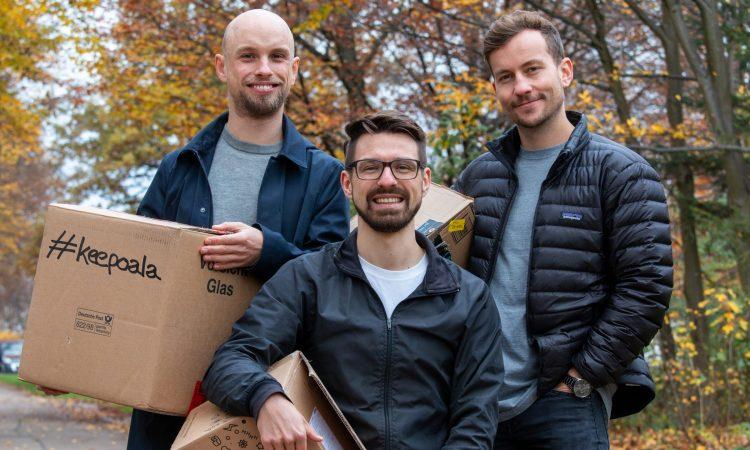 Das Keepoala-Gründerteam Tjark Metzner, Sebastian Engel-Wolf und Eik Lämmerhirt (v.l.)