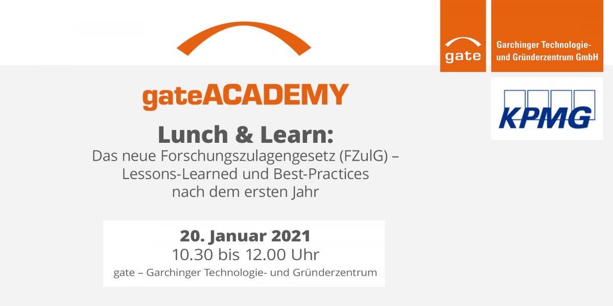 Lunch & Learn: Das neue Forschungszulagengesetz
