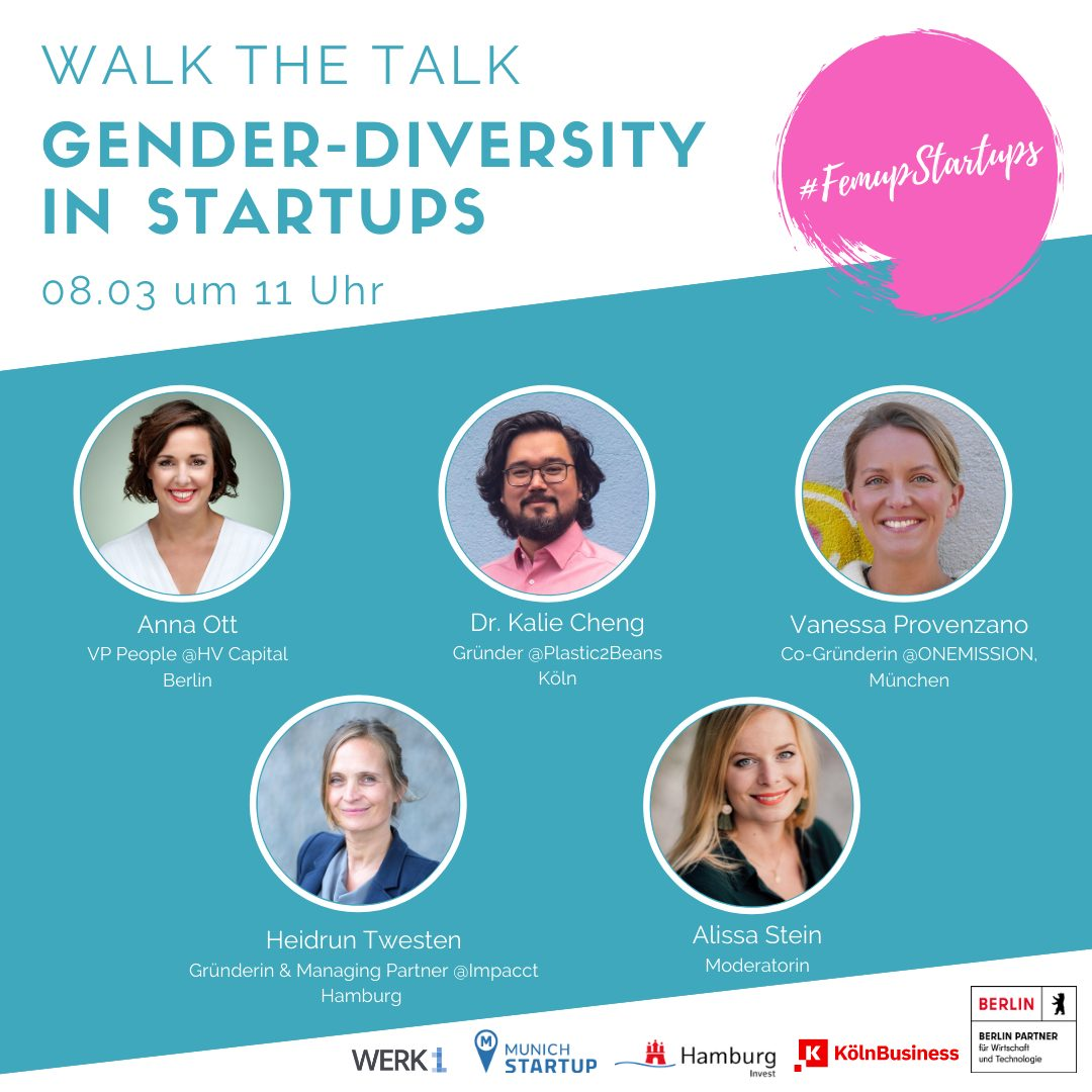 Walk the Talk - Gender Diversity in Startups