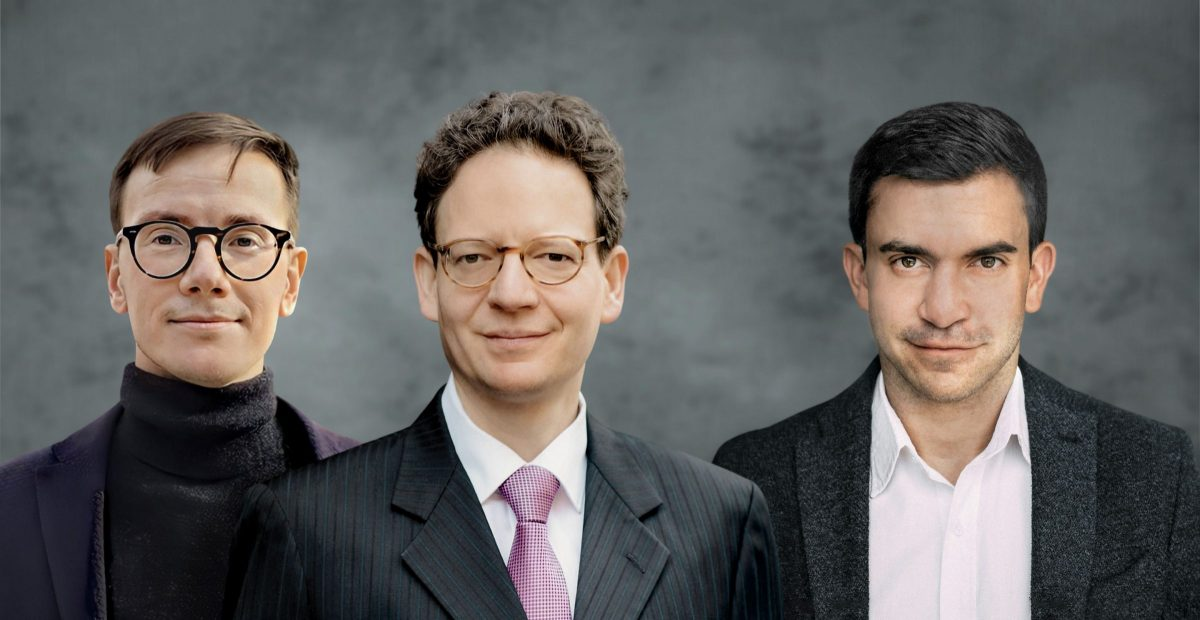 Die GoodIP-Gründer Linus Kohl, Bastian July und Sebastian Hugl (v.l.)