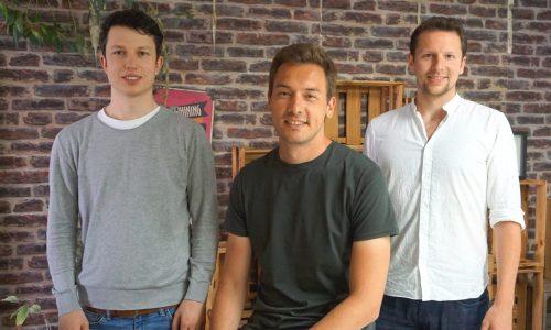 Die Ocell Gründer Felix Horvat, Christian Decher und David Dohmen (v.l.)