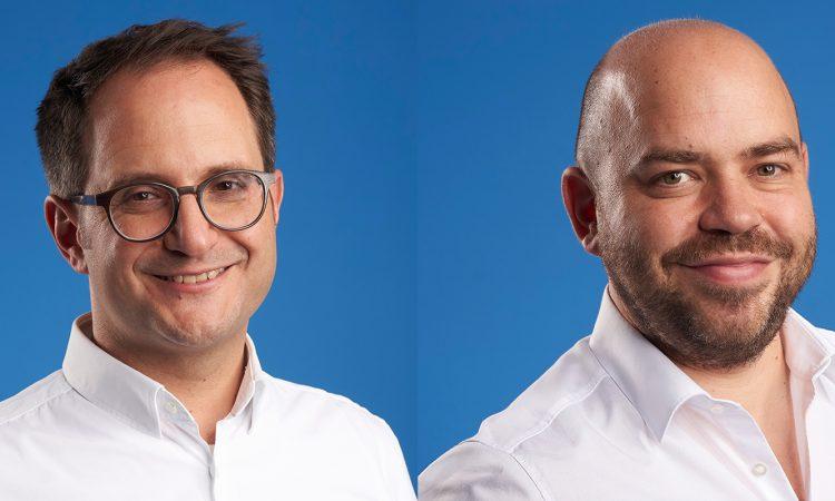 Die beiden Finanzchef24-Geschäftsführer Benjamin Papo und Tobias Wenhart (v.l.)