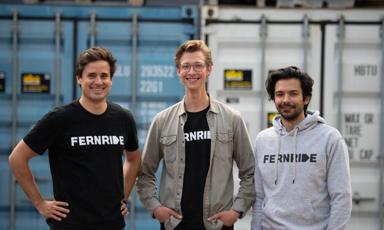 Die Fernride-Gründer Max Fisser, Hendrik Kramer und Jean-Michael Georg (v.l.)