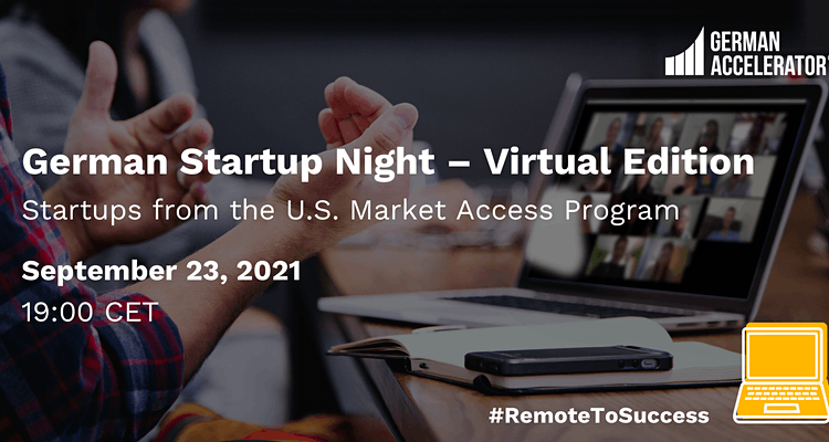 German Startup Night - Virtual Edition - U.S.