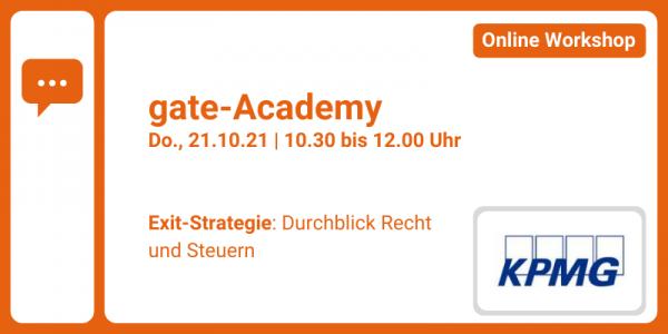 gate-Academy - Exit-Strategie: Durchblick Recht und Steuern