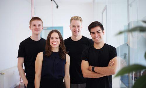 Das Tanso-Gründerteam: Lorenz Hetzel, Gyri Reiersen, Till Wiechmann und Fabian Sinn (v.l.)