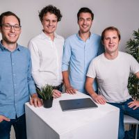 Das Gründer-Team von Peter Park: Patrick Bartler, Maximilian Schlereth, Stefan Schenk und Florian Schaule (v.l.)