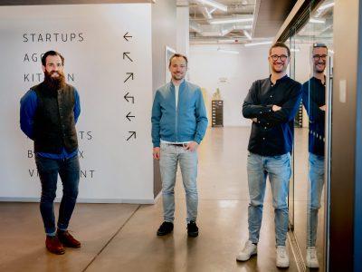 Dominik Pietrowski, Andreas Kleofas und Dimitri Dumonet, die Gründer von Emax Digital (v.l.)